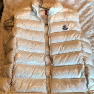 White Moncler vest GREAT CONDITION